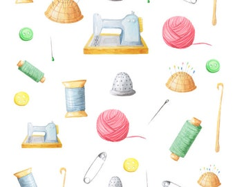 Sewing, Crochet, Themed Planner Stickers for Horizontal, Vertical ECLP, BuJo, TN, Kikki.K Filofax, Happy Planner etc