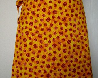 Wrap Around Skirt - Red Suns