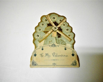 Vintage 1940's Valentine Card - To My Valentine
