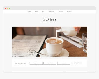 "Wordpress Theme - Wordpress Ecommerce Theme - Genesis Wordpress Website Theme - ""Gather"" Instant Digital Download"