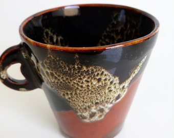Coffee Cup with red iron handle