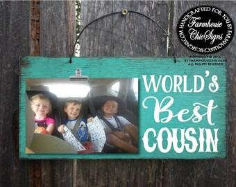 gift for cousin, cousin gift, cousin, world's best cousin, cousin picture frame, Christmas gift for cousin, birthday gift for cousin, 221