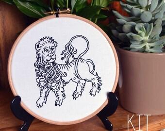 Leo Zodiac Embroidery Kit