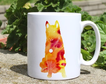 Dog mug - Colorful printed mug - Tee mug - Coffee Mug - Gift Idea
