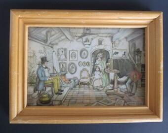 PAPER ART FRAME, Anton Pieck, Miniature, Shadow Box, Wall decor, Victorian, Vintage decor, Wall decor, Wall Hangings, Gift ideas