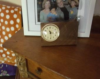 Petite Walnut Desk or Shelf Clock