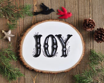 Country Christmas Decorations, Joy Wood Sign, Modern Christmas Decorations, Winter Wall Decor, Holiday Gift for Wife, Christmas Gift for Mom