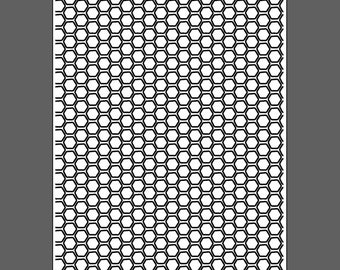Honeycomb medium - laser engraved texture sheet for rolling mill and metal clay