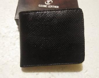 Handmade Genuine Snake Skin Wallet. Men's Slim Bifold Wallet. BLACK SNAKESKIN BIFOLD Wallet. Free Shipping