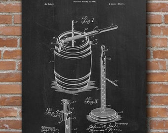 Preserving Apparatus Patent, Beer Patent, Beer Brewing Patent, Bar Decor, Patent Print - DA0547