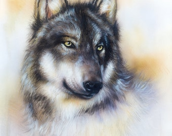 The Wolf counted cross stitch chart