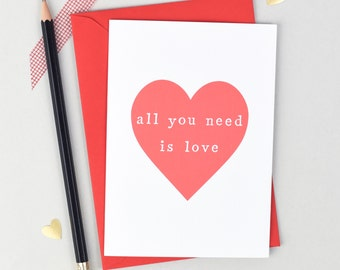 Anniversary Card, Love Card, Valentines Card, Heart Card, Wife Anniversary, Husband Card, Valentines, Love Wedding Card, Card for Wife,