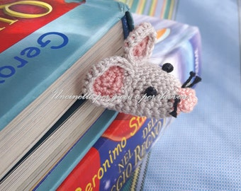 bookmark hand made crochet mouse