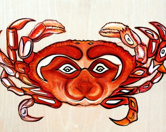 North Pacific Dungenous Crab Original Painting