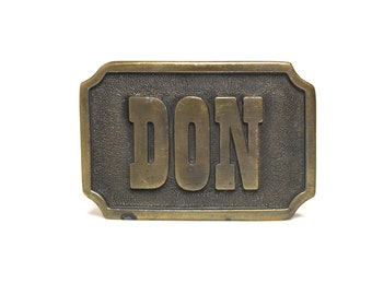 "Vintage Belt Buckle ""DON"""