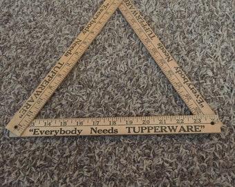 TUPPERWARE advertising folding ruler