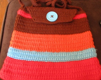 Multicolored crocheted Handbag
