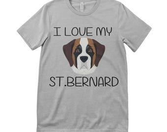 I Love My St. Bernard Tee T.Shirt