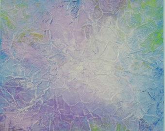 "Original Acrylic Abstract Home Decor Wall Art Painting, 12""x12"""