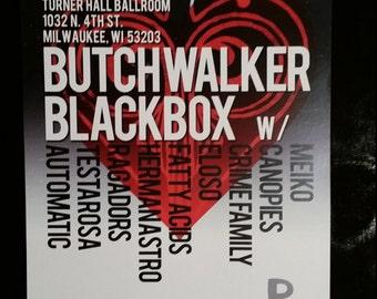 Blackbox, Butch Walker, Mieko Pablove Milwaukee Concert Poster 1/28/12