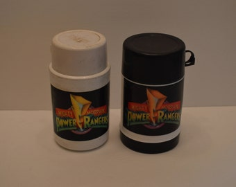 Lot of Two Mighty Morphin Power Rangers Thermos