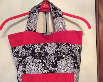 Bag red white and black with pockets great gift under 25
