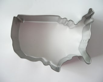 USA Cookie Cutter Map Fourth of July Patriotic Military