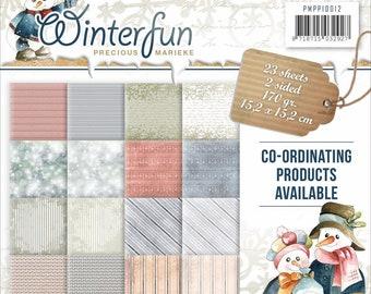 Winterfun, 6 x 6 Paper Pack, Scrapbooking, Card Making,  Mixed Media, Mini Album