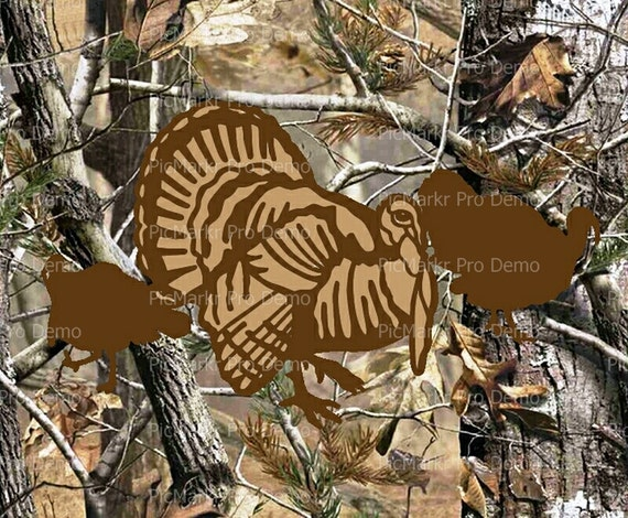Camo Turkey Hunting Birthday - Edible Cake and Cupcake Topper For Birthday's and Parties! - D10096