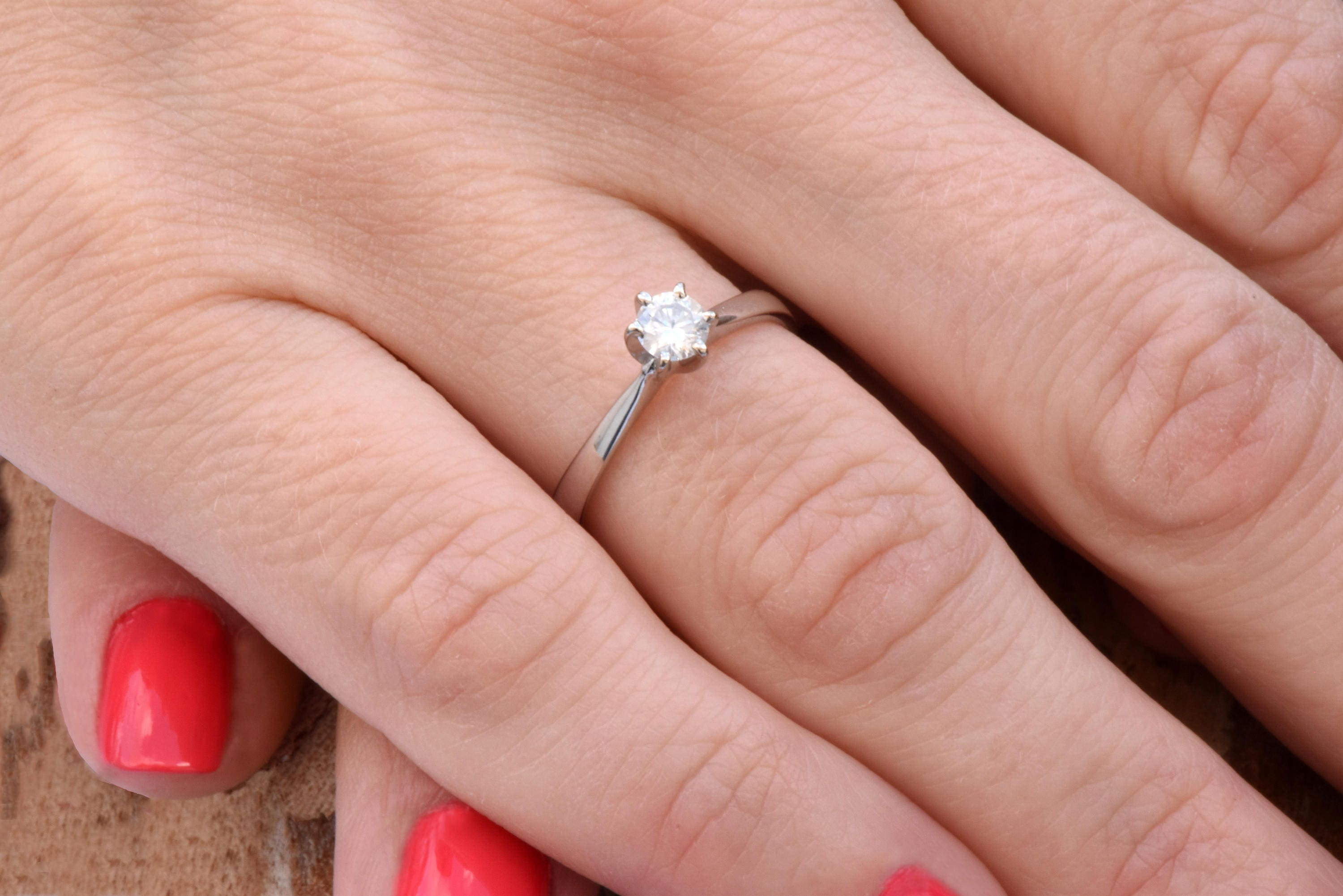 Solitaire ring-Diamond Engagement Ring-Solitaire diamond ring-14K ...