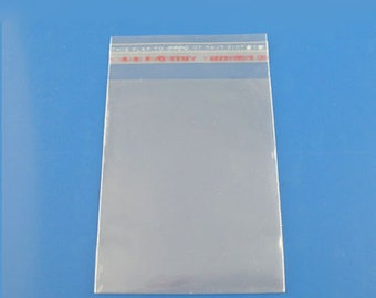 Clear Resealable  Card Bags 50 pieces clear sleeves card bag packaging storage 5X7 A7 Plus