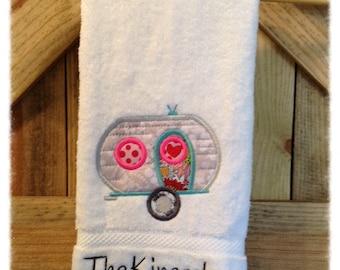 Monogram Hand Towel for Camper Trailer RV