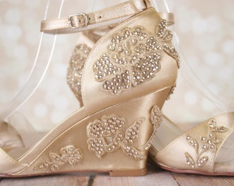 Champagne shoes   Etsy