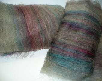 Multi Fibered Batts for Hand Spinning Yarn