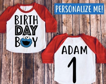 Cookie monster birthday shirt, cookie monster birthday party, cookie monster theme, baby boy birthday shirt, baby boy party