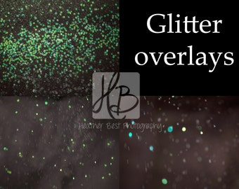 INSTANT DOWNLOAD 3 Glitter Overlays for photoshop