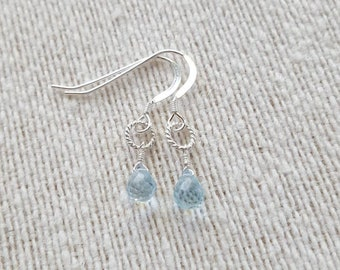 Sky Blue Topaz Earrings / Sky Blue Topaz / Earrings / Drop Earrings / Sterling Silver / Gift For Her