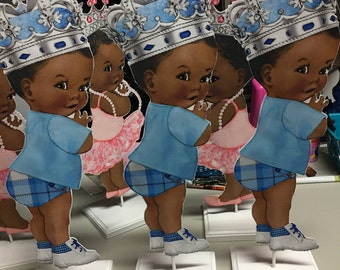 1 Royal baby boy baby shower or birthday centerpieces