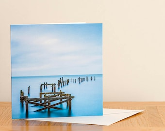 Old Pier, Swanage - Greeting Card