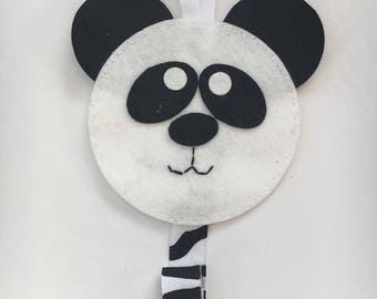 Panda hair clip hanger - organiser