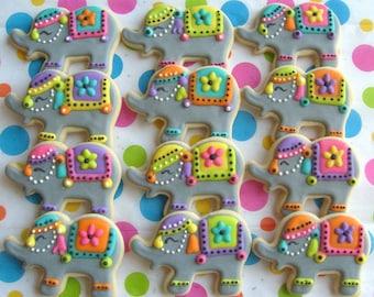 Elephant Cookies - Circus Elephant Cookies - 1 Dozen