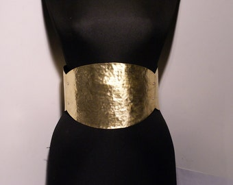 brass belt - metal belt - corset belt -   big belt - gold belt - thick belt - metal corset belt -adjustable