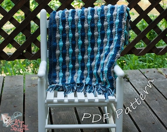 Crochet afghan pattern, striped blanket pattern, crochet pattern, crochet throw patten, easy baby blanket pattern, permission to sell