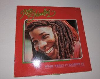 "Rita Marley - Who Feels It Knows It - 1981 Reggae Music Vinyl 12"" Record LP"