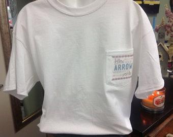 Pi Beta Phi Arrow Comfort Colors Pocket Tshirt!