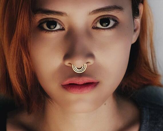 Gold Nose Ring Gold Septum Boho Style Jewelry Gold Boho