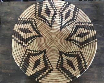 Vintage Mid Century / Hollywood Regency/ Bohemian Native American Indian Style Woven Basket