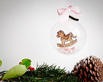 Baby's first christmas decoration, Babys 1st christmas ornament , Personalised  1st christmas decoration. Personalsied 1st christmas bauble.