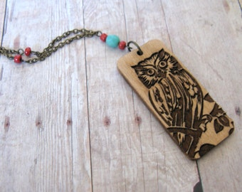 Whooo Wood you Be? Owl Necklace