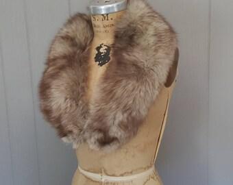 SILVER Fox Fur Collar / bridal wedding